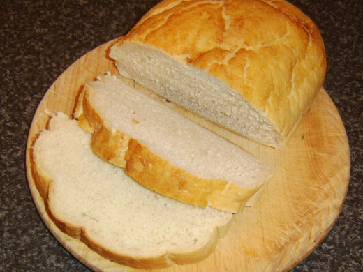 Bread slices are cut thick for open sandwiches