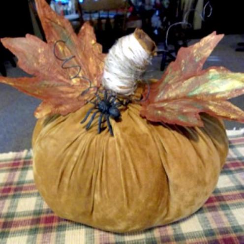 elegant suede pumpkin craft