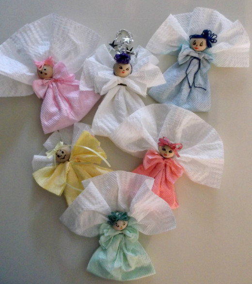 paper towel doll ornaments craft