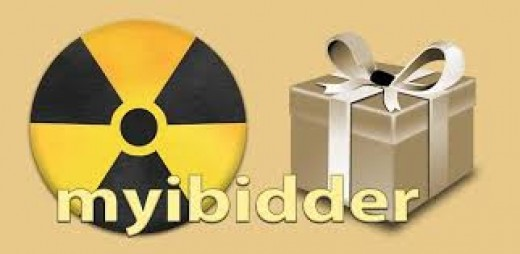 myibidder logo with clip art of a present