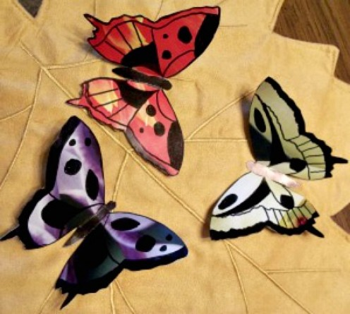 Make a Beautiful Butterfly Craft With Calendar Pages