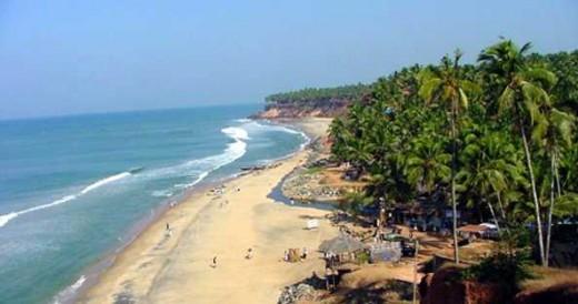 Varkala beach, India