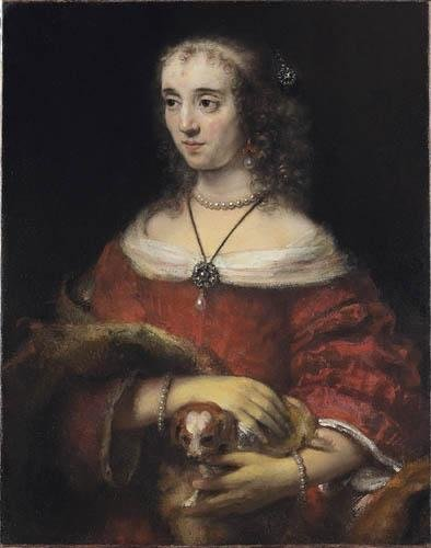 Portrait of a Lady with a Lap Dog, 1665