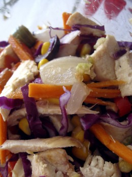 Salads with a variety of veggies and protein make a quick, filling and healthy lunch on the go.