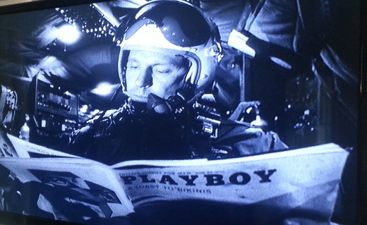 Major Kong, played by Slim Pickens, is a blindly patriotic Texan who studies female anatomy during his missions.