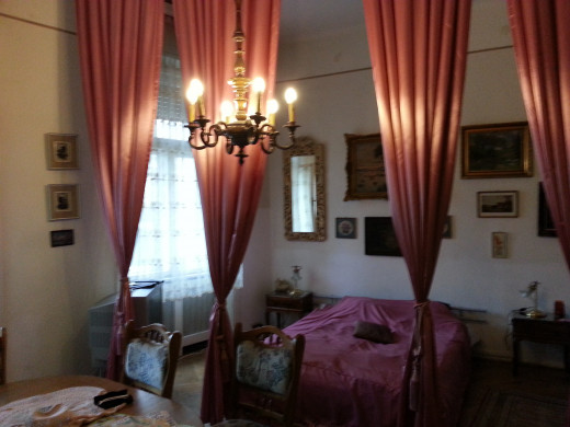The interior of the apartment was in keeping with the old-world ambiance of the neighborhood itself.