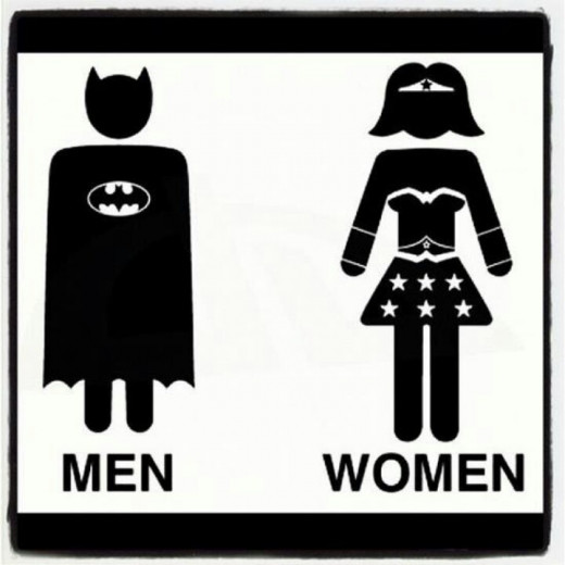 Even superheros have to use the bathroom...