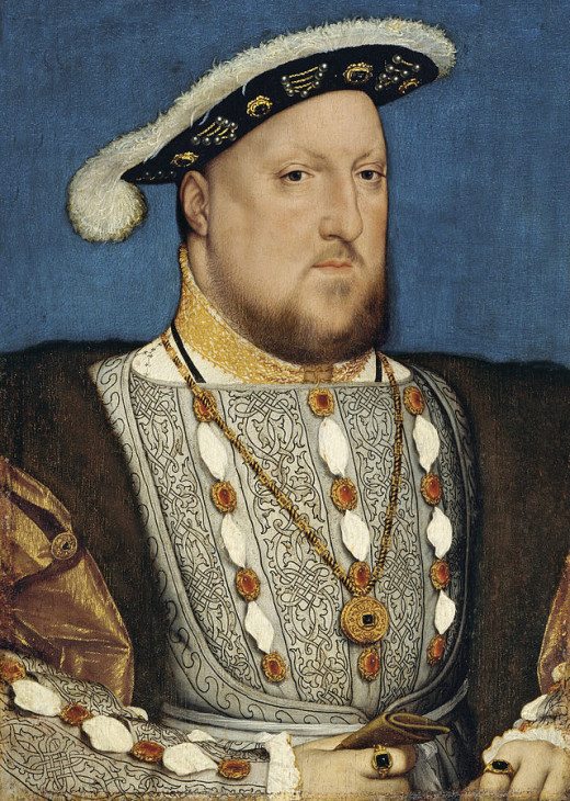 Portrait of Henry VIII byHans Holbein the Younger 1537