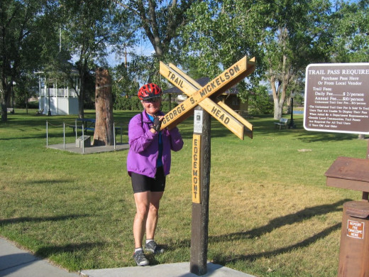 Finish of entire 110 mile Mickleson Trail at age 76. From Deadwood to Edgemont in one day