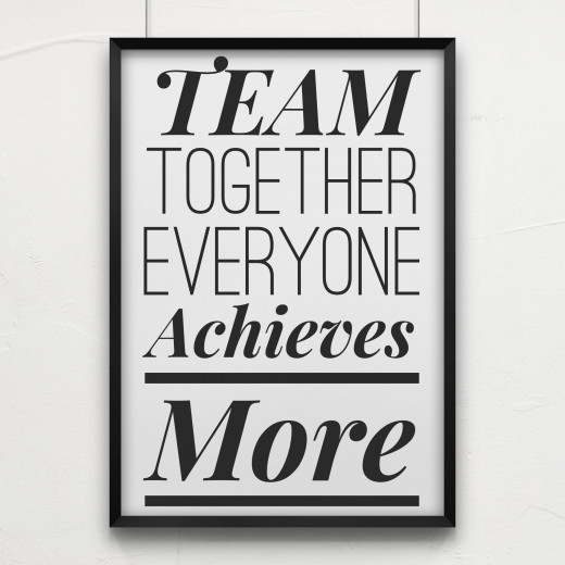 "Leadership Quote: ""TEAM - Together, Everyone, Achieves, More"""