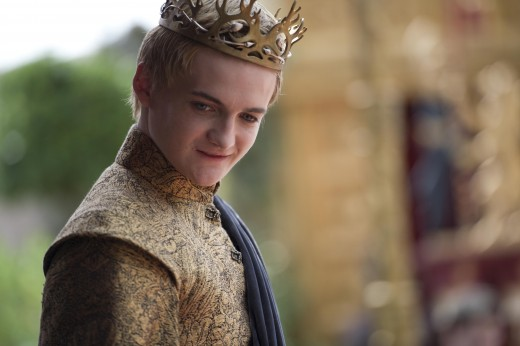 Joffrey Baratheon (Jack Gleeson) at his wedding feast.