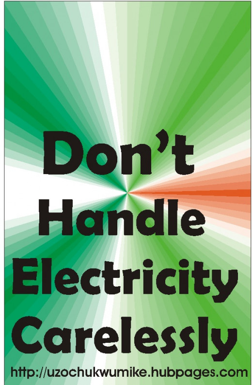 Careless handling of electricity is among the causes of electric shock. Do not handle electricity carelessly.