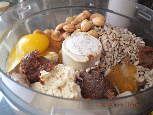 Everything else goes in the food processor.