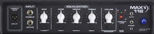 Peavey Max 112 Bass Combo Amp Top Panel