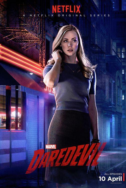 Deborah Ann Woll plays Karen Page in Marvel's Daredevil.
