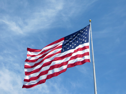 The proper way to display the American flag will depend to some degree on the setting and the type of flag.
