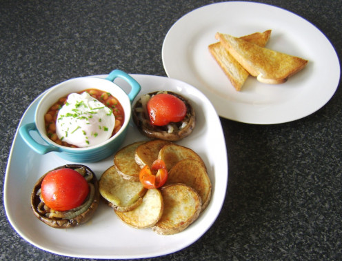 A full vegetarian fried breakfast need not be an insubstantial fried breakfast