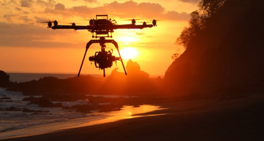 Drones should be used in deserted areas, like beaches