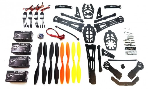 Various spare parts are available in case of a crash