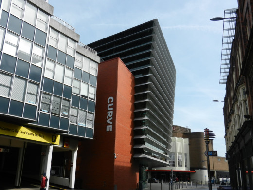 The Curve Theatre looms over the Cultural Quarter like an ocean liner in dock.