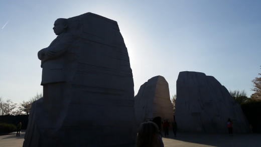 "Martin Luther King's monument has a great message. On the side is written ""Out of the mountain of despair, a stone of hope"". Here you can see how his stone came out of the mountain in the background!"