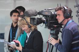 A Camera Man and crew.