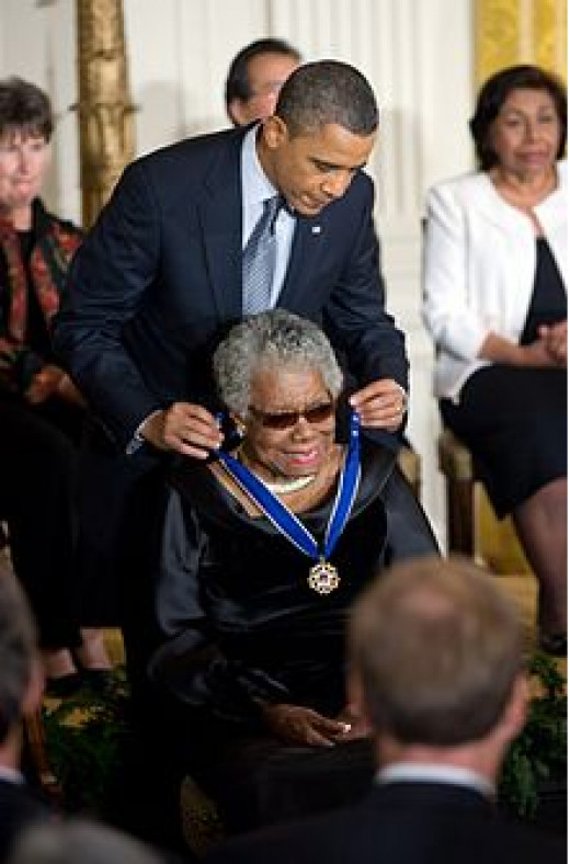 Receiving the Presidential Medal of Freedom from President Obama
