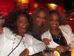 Kasia, Angelladywriter and Paulette Blake who is the wife of Jerry Blake, enjoyed Point Blank's show at Warmdaddy's.