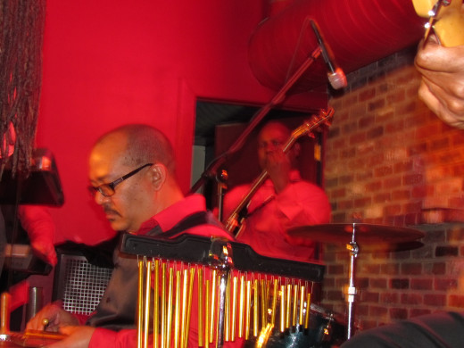 "Juan ""Cuco"" Castellanos, is the percussionist and band member for Point Blank."