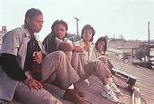 Queen Latifah, Kimberly Elise, Vivica A. Fox and Jada Pinkett Smith in a clip from Set It Off.