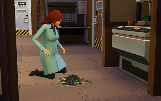 It's a dirty job, but it may result in the discovery of some spare parts. You'll need those later, Delia!