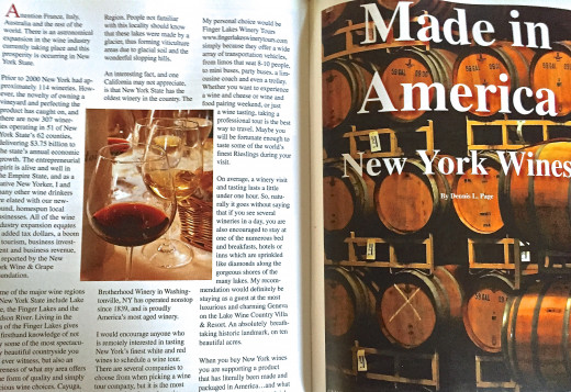 One of my articles published in a national magazine.