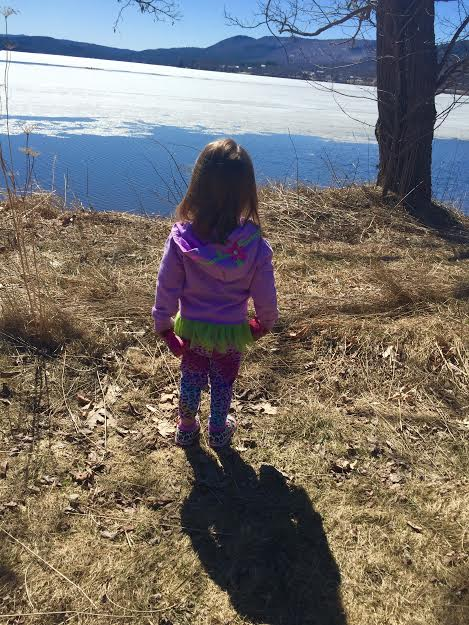 Scarlette Gazing at the Lake