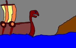 A Viking Dragon ship.