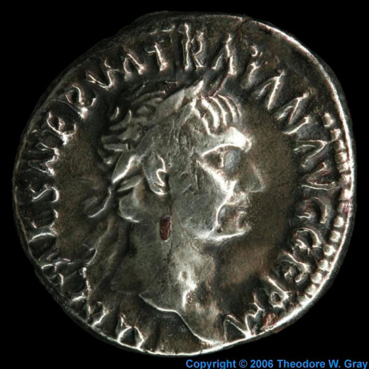 Coin from 98-99BC.- An example of the element Silver