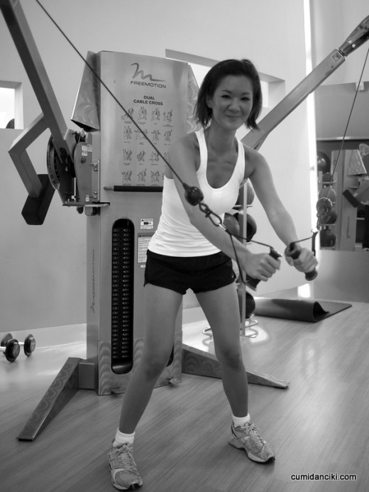 Resistance training can include the use of cable machines, free weights, resistance bands and the like.