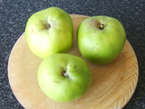 Bramley apples are an excellent choice of apples when using them for cooking