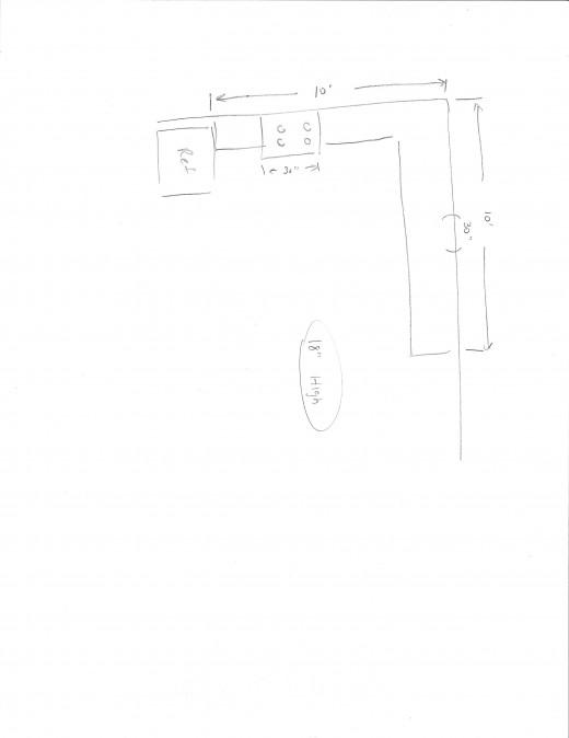 Kitchen Layout Sketch