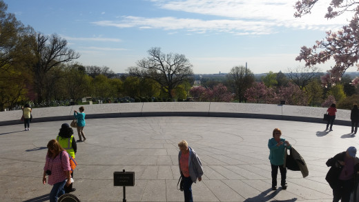 The view of the city of Washington D.C. from the hill. John F. Kennedy said it was one of the most beautiful things he had ever seen.
