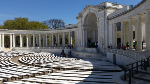 The Amphitheater Holds Almost 3,000 spectators and is used on military holidays like Memorial Day.