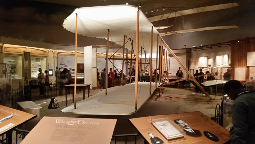 The First Wright Brother's Plane! This plane flew for just a few seconds in 1903, but it opened up the door of flight and air travel for the entire world!