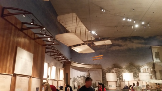 The small kite and glider that the Wright Brother's practiced making their designs with.