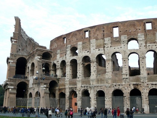 Colosseo in Rome is where the gladiators slaughtered live animals for entertainment purposes.