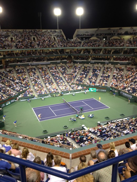 BNP Paribas Open at Indian Wells, CA where top tennis players like Roger Federer competes. Source: My own collection.