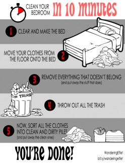 CHART: Teach your kids to clean any bedroom in 10 minutes