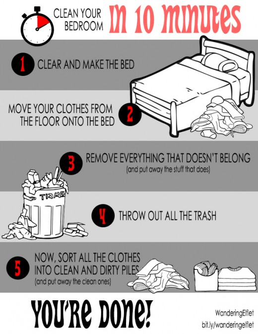Printable Chart: Teach Your Kids to Clean Their Bedroom in 10 Minutes