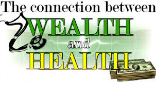 Still explaining the similarities between wealth and health of man.