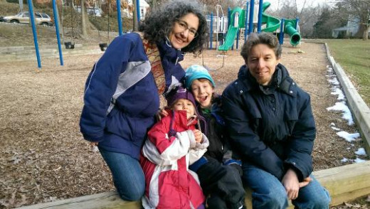 The Meitiv family Danielle and Alexander with their children Rafi,10, and Dvora, 6.