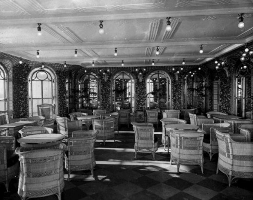 First Class Recreation Area on the Titanic