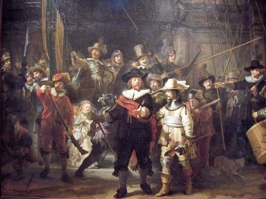 Rembrandt (1606–1669) The Company of Frans Banning Cocq and Willem van Ruytenburch, known as the 'Night Watch' PD-art-100